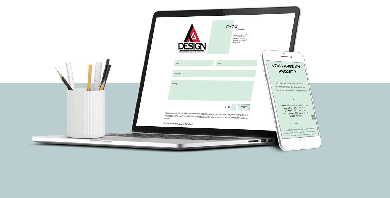 Creation site web vitrine topdesign cergy val d'oise 95