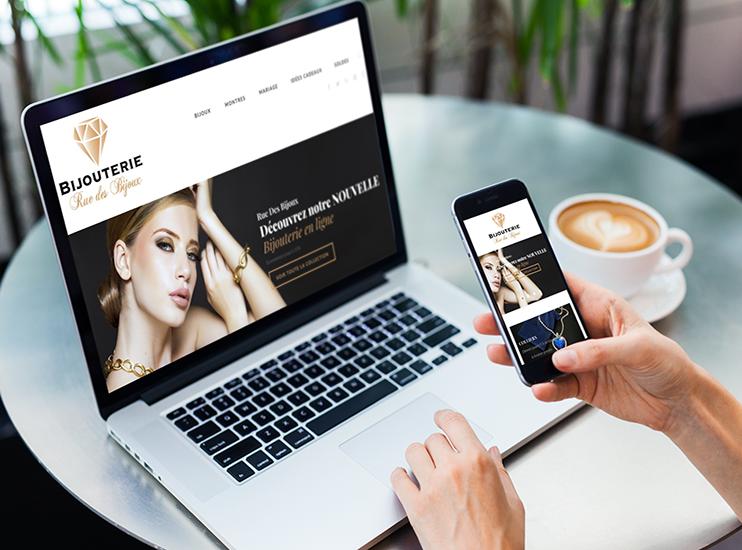 création site web e-commerce ruedesbijoux